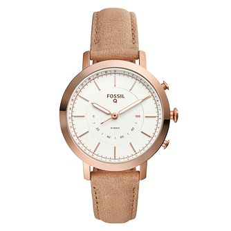 Fossil Q Neely Ladies' Rose Gold Tone Hybrid Smartwatch - Product number 8591911