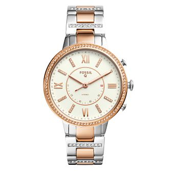 Fossil Q Virginia Ladies' Two Colour Hybrid Smartwatch - Product number 8591962