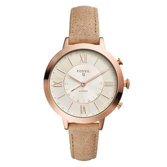 Fossil Q Jacqueline Ladies' Rose Gold Tone Hybrid Smartwatch - Product number 8591970