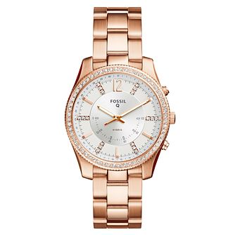 Fossil Q Scarlette Ladies' Rose Gold Tone Hybrid Smartwatch - Product number 8592098