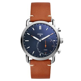 Fossil Q Commuter Men's Blue Hybrid Smartwatch - Product number 8592160