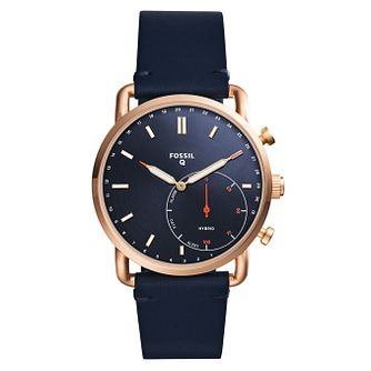 Fossil Q Commuter Men's Rose Gold Tone Hybrid Smartwatch - Product number 8592179