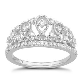 Emmy London Silver & 0.29ct Diamond Tiara Ring - Product number 8592438