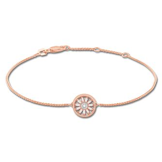 Emmy London 9ct Rose Gold & 0.15ct Diamond Round Bracelet - Product number 8592667