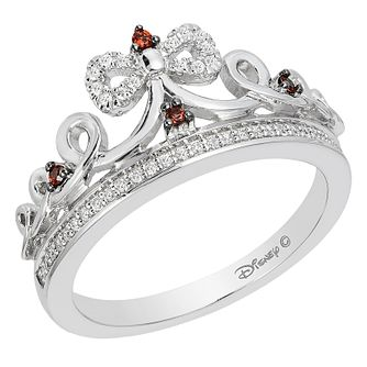 Enchanted Disney Silver, Diamond & Garnet Snow White Ring - Product number 8593027