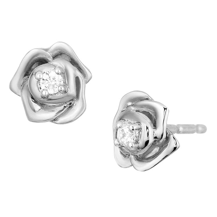 Enchanted Disney Silver 1/5 Carat Diamond Belle Earrings - Product number 8593175