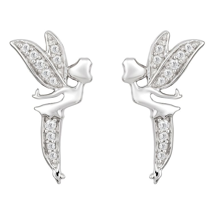 Enchanted Disney Silver 1/10ct Diamond Tinker Bell Earrings - Product number 8593183