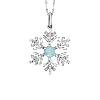 Enchanted Disney Fine Jewelry Diamond & Topaz Elsa Pendant - Product number 8593213