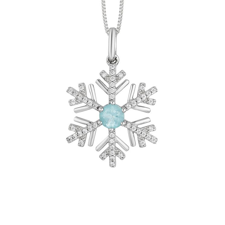 Enchanted Disney Silver, 1/4ct Diamond & Topaz Elsa Pendant - Product number 8593213