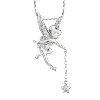Enchanted Disney Silver 1/10ct Diamond Tinker Bell Pendant - Product number 8593221