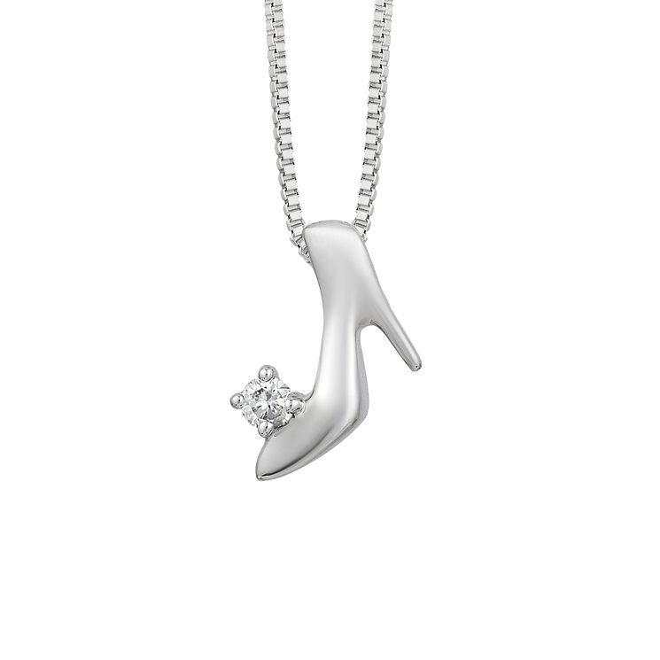 Enchanted Disney Silver & Diamond Cinderella Pendant - Product number 8593248