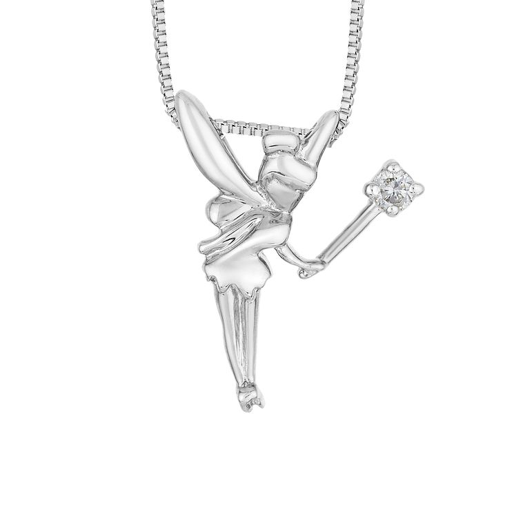 Enchanted Disney Silver & Diamond Tinker Bell Pendant - Product number 8593264