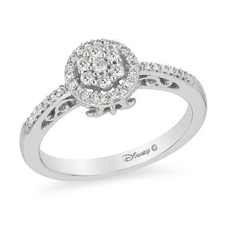 Enchanted Disney White Gold 1/4ct Diamond Cinderella Ring - Product number 8593450
