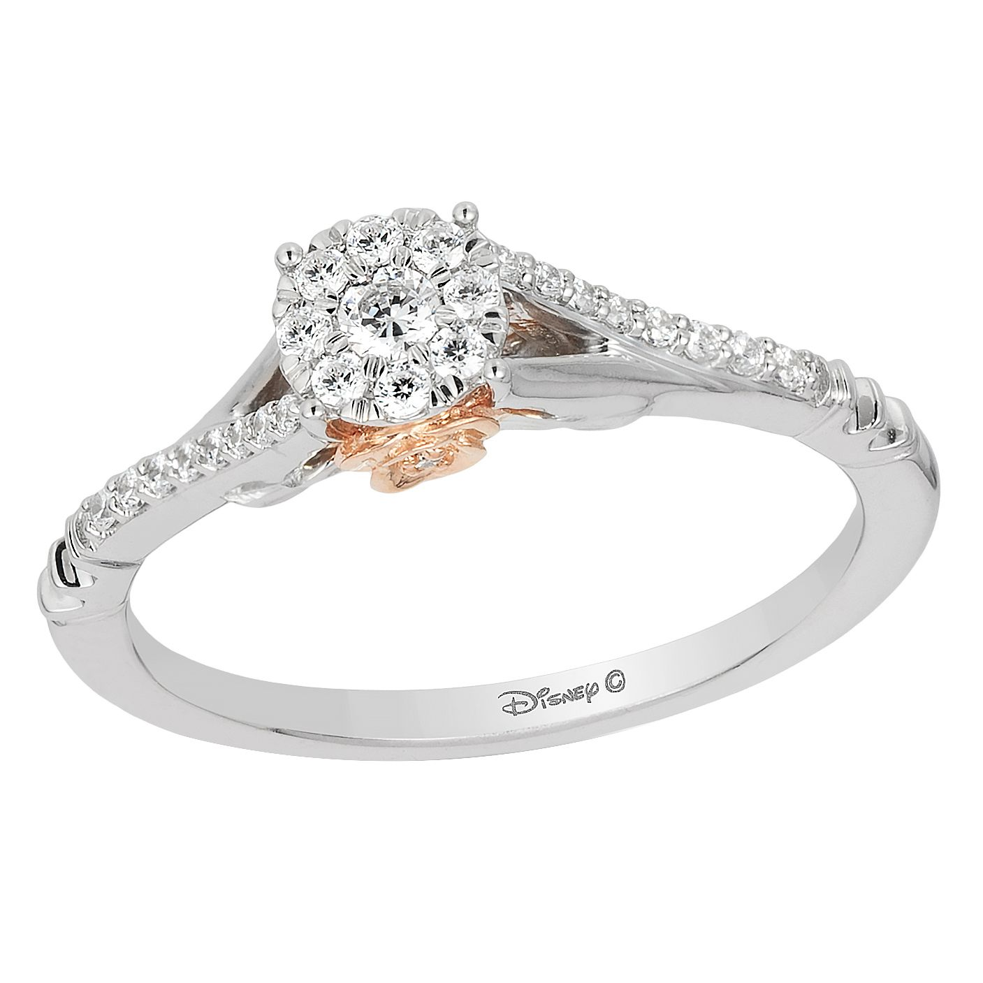 diamond gold in ring white carat solitaire with a engagement