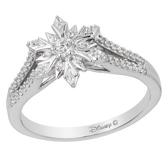 Enchanted Disney 9ct White Gold 1/4 Carat Diamond Elsa Ring - Product number 8595542