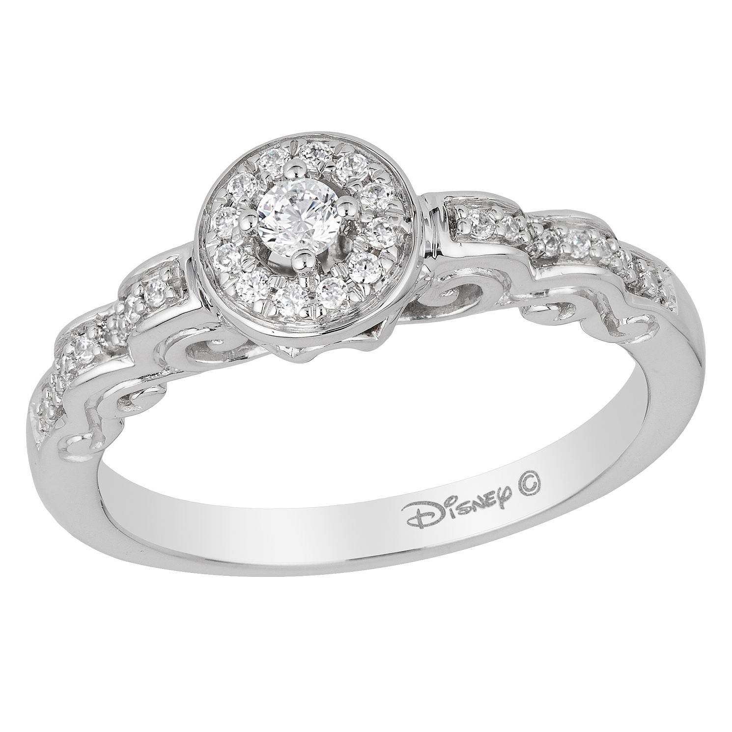 the wedding engagement diamond ring introducing ribbon white diamonds cinderella in rings collection gold