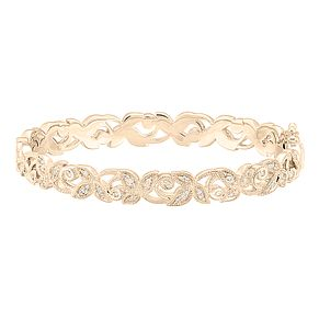Neil Lane 14ct Yellow Gold 0.29ct Diamond Vine Bangle - Product number 8596115