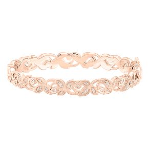 Neil Lane 14ct Rose Gold 0.29ct Diamond Vine Bangle - Product number 8596123