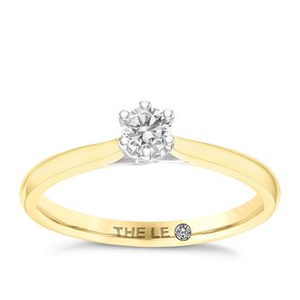 Leo Diamond 18ct Yellow Gold 1/5ct CT I-P1 Diamond Ring - Product number 8596603