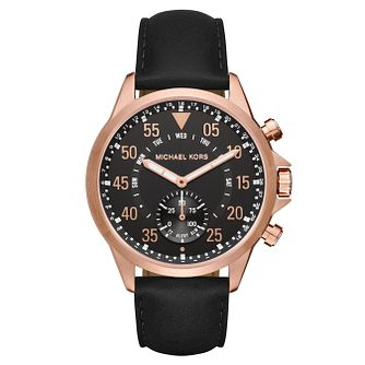 Michael Kors Access Men's Rose Gold Tone Hybrid Smartwatch - Product number 8597197