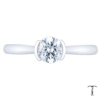 Tolkowsky Platinum 0.52ct Ideal Cut Semi Bezel Ring - Product number 8598045