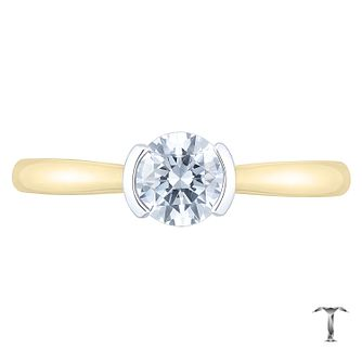 Tolkowsky 18ct Yellow Gold 0.52ct Diamond Solitaire Ring - Product number 8598371