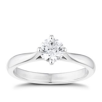 Tolkowsky Platinum 0.54ct Ideal Cut Solitaire Ring - Product number 8598517
