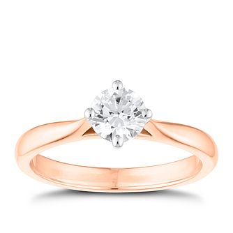 Tolkowsky 18ct Rose Gold 0.54ct Diamond Solitaire Ring - Product number 8598657