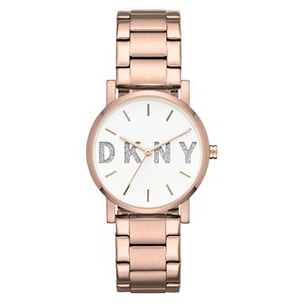 DKNY Soho Ladies' Rose Gold Tone Bracelet Watch - Product number 8599513