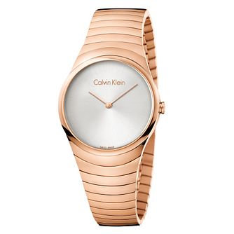 Calvin Klein Ladies' Rose Gold Plated Steel Bracelet Watch - Product number 8599556
