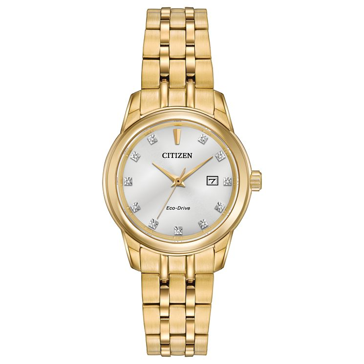 Citizen Eco-Drive Ladies' Gold Plated Bracelet Watch - Product number 8600147