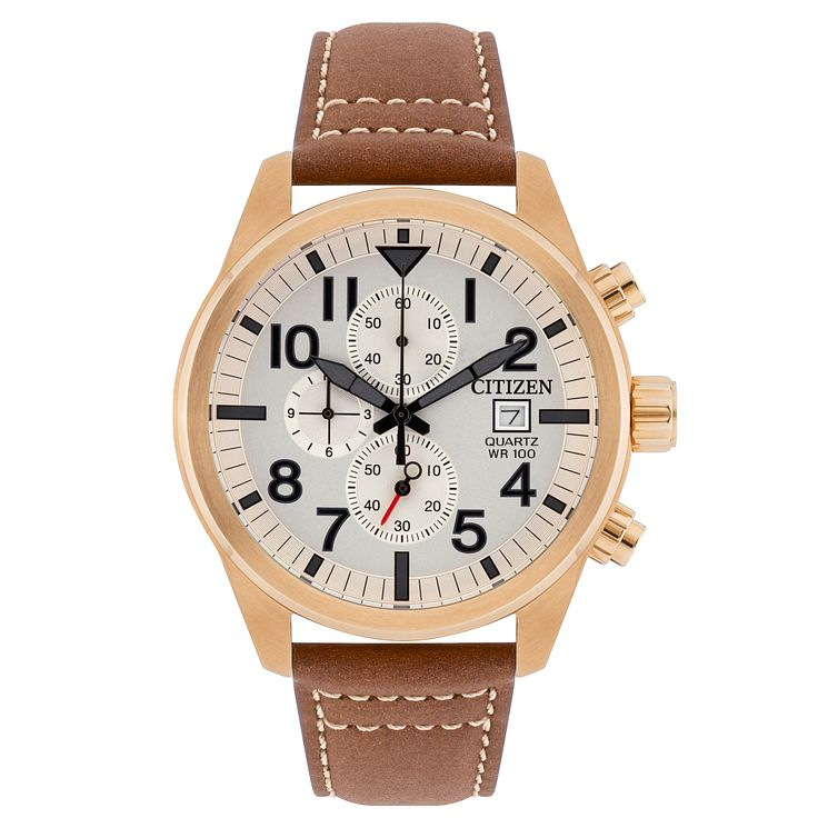 Citizen Men's Brown Leather Strap Watch - Product number 8600198