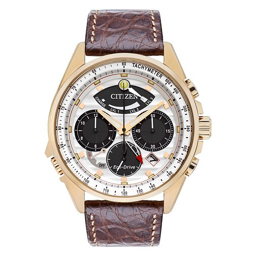Citizen Eco-Drive Men's Brown Leather Strap Watch - Product number 8600236