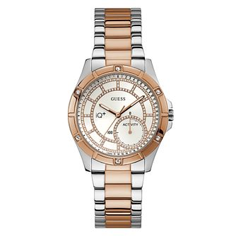 Guess IQ Ladies' Two Tone Steel Bracelet Smartwatch - Product number 8600406