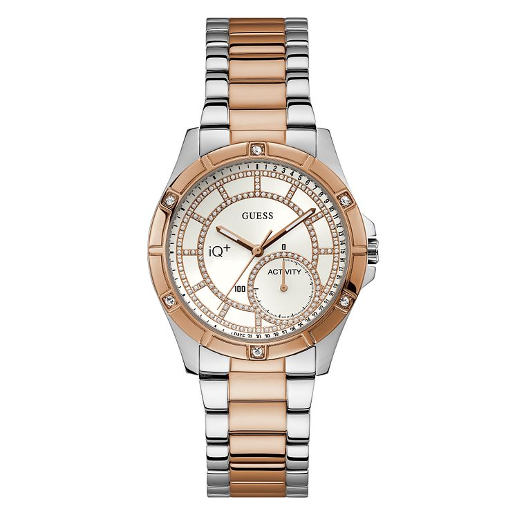 Guess Active IQ Ladies' Two Tone Steel Bracelet Smartwatch - Product number 8600406