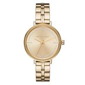 Michael Kors Bridgette Ladies' Yellow Gold Tone Watch - Product number 8600546