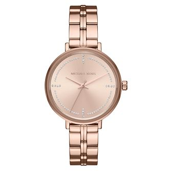 Michael Kors Bridgette Ladies' Rose Gold Tone Bracelet Watch - Product number 8600759