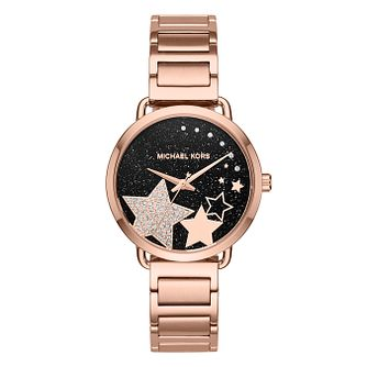 Michael Kors Portia Ladies' Rose Gold Tone Watch - Product number 8600791