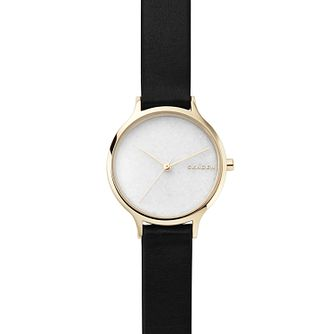 Skagen Anita Ladies' Yellow Gold Tone White Dial Watch - Product number 8600872