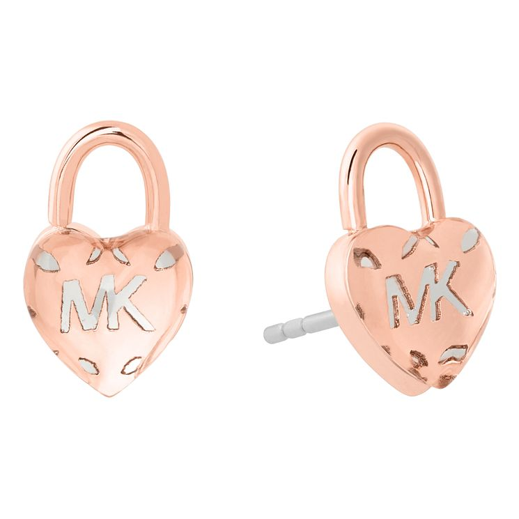 Michael Kors Ladies' Rose Gold Tone Heart Stud Earrings - Product number 8600988