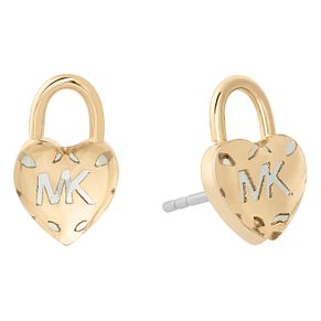 Michael Kors Ladies' Yellow Gold Tone Heart Stud Earrings - Product number 8601003