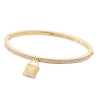Michael Kors Ladies' Yellow Gold Tone Bag Bangle - Product number 8601216