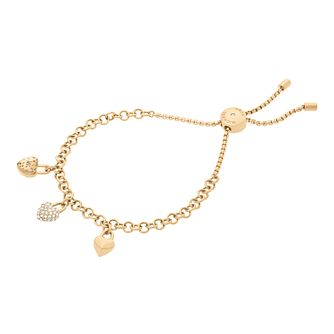 Michael Kors Ladies' Yellow Gold Tone Adjustable Bracelet - Product number 8601267