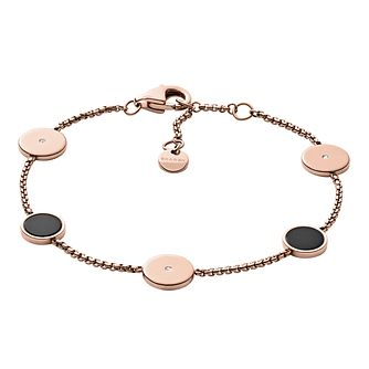 Skagen Ellen Rose Gold Tone Stainless Steel Bracelet - Product number 8601402