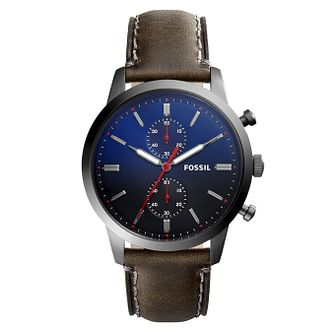 Fossil Minimalist Men's Ion Plated Blue Strap Watch - Product number 8601739