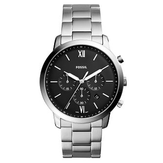 Fossil Neutra Men's Black Chronograph Bracelet Watch - Product number 8601798