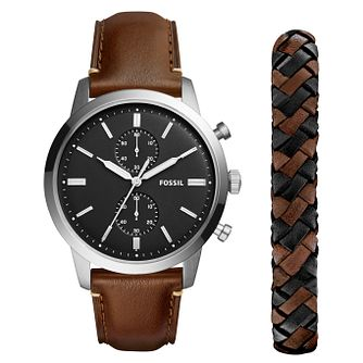 Fossil Townsend Men's Brown Chronograph and Bracelet Set - Product number 8601828