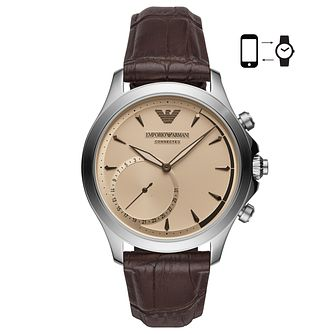 Emporio Armani Connected Men's Stainless Steel Brown Watch - Product number 8601836