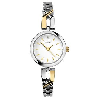 Sekonda Ladies' Two Tone Alloy Bracelet Watch - Product number 8602115