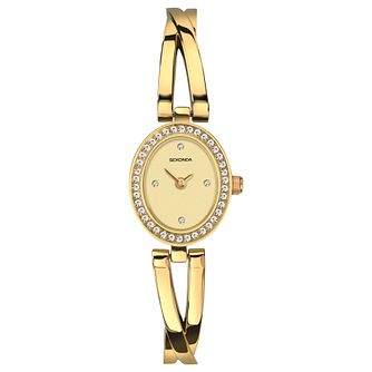 Sekonda Ladies' Gold Plated Semi-Bangle Bracelet Watch - Product number 8602123